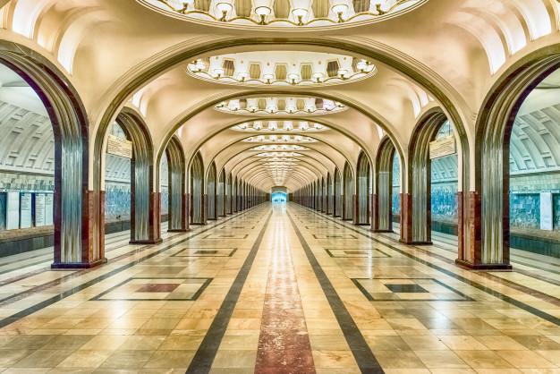 estacao de metro mayakovskaya em moscou russia 71337 14